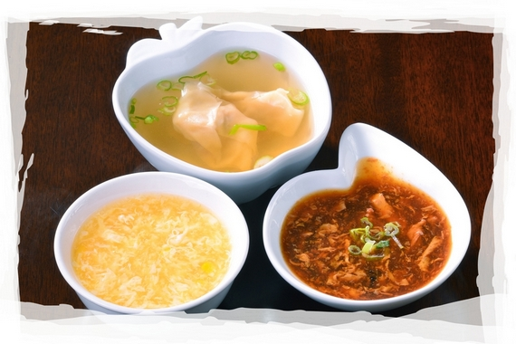 Assorted soups Full House Asian Bistro offers