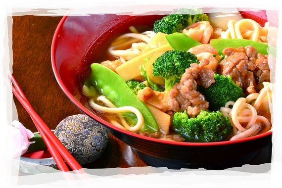 Noodle soup with beef