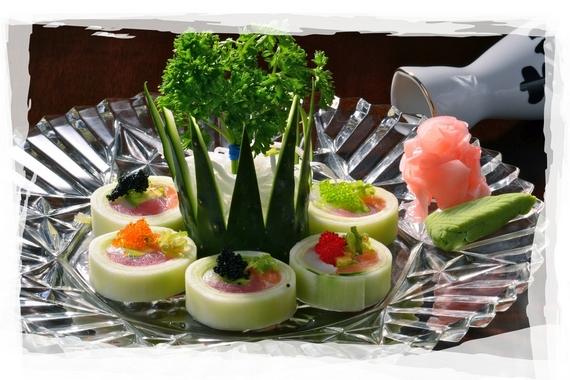 Sashimi Cucumber Roll